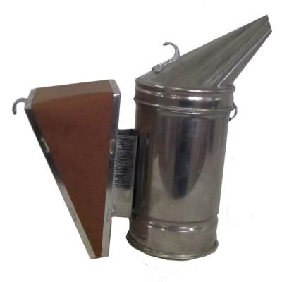 Дымарь пасечный из нержавеющей стали, мех съемный из кожзаменителя