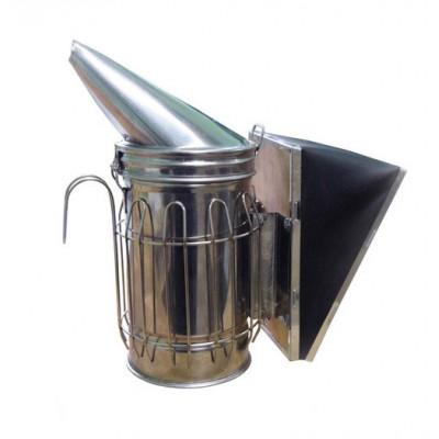 Дымарь пасечный из нержавеющей стали, мех съемный из кожзаменителя, с ограждением