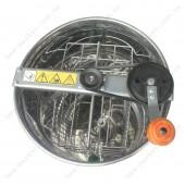 Медогонка 2-х рамочная нерж. (марка стали 430) не поворотная,  Дадан, ременная передача