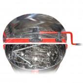 Медогонка 2-х рамочная нержавеющая с подставкой и крышкой ( кассеты нерж. сталь)
