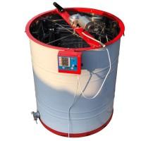 Медогонка 4-х рамочная, нержавеющая с червячным электроприводом 12В, пульт М2, корпус кассет нержавейка, сетка оцинкованная.