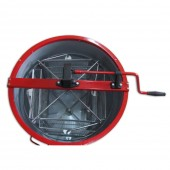 Медогонка  4-х рамочная оцинкованная под рамку РУТА с поворотом кассет