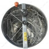 Медогонка нержавеющая ( AISI 430) 4-х рамочная, поворотная, Дадан, ременная передача