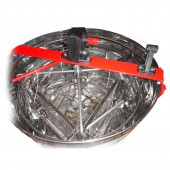 Медогонка 4-х рамочная нержавеющая поворотная; периметр кассеты нержавейка, сетка оцинковка