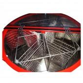 Медогонка 4-х рамочная автоматическая  ( электропривод ) нержавеющая