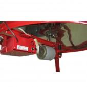 Медогонка 8-ми рамочная «Евро»  ( электропривод ) со сварными кассетами под рамку «РУТА», нержавеющая (ротор н/ж, с крышкой)
