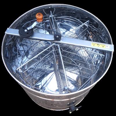 Медогонка 6-ти рамочная нержавеющая, поворотная рамка Дадан, ременная передача