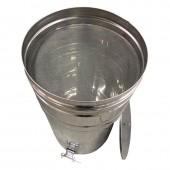 Бак-отстойник с фильтром 70л (из нержавеющей стали)