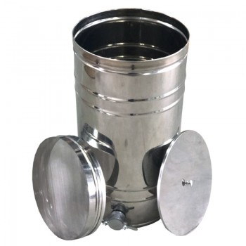Бак-отстойник с фильтром 35л (из нержавеющей стали)