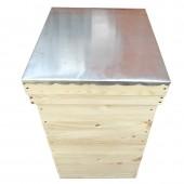 """Улей многокорпусный под рамку типа """"Дадан"""" 300 мм (2 корпуса, 10 рамок) с алюминиевой крышей"""